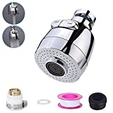 Faucet Spray Head, 360 Rotate Swivel Kitchen Tap Head, Water Saving Tap Aerator Nozzle Filter Water Saving Tap Diffuser Kitchen Accessories