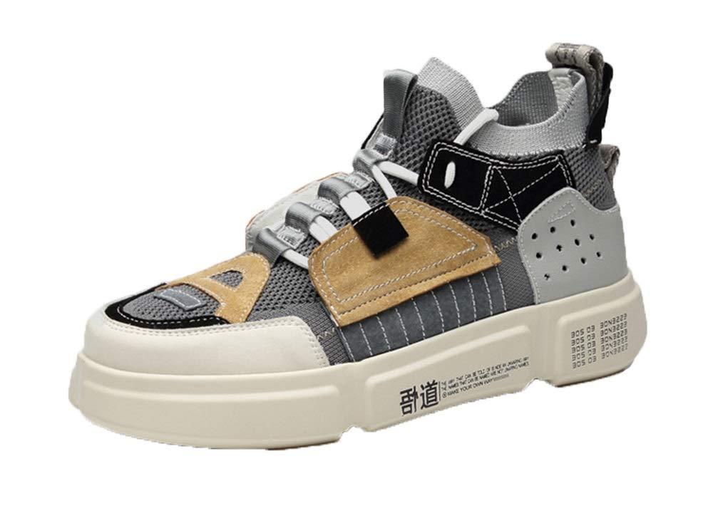 Qiusa Beiläufige Sport-Schuhe der Männer weiche alleinige Rutschfeste Breathable dauerhafte Komfort-Schuhe (Farbe   Grau, Größe   EU 40)