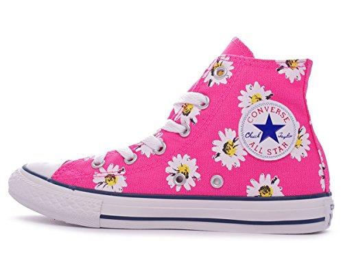 Converse Pink Canvas Hi alta Paper sneaker Graphic Taylor tela Daisy bambina Chuck rqz8gr