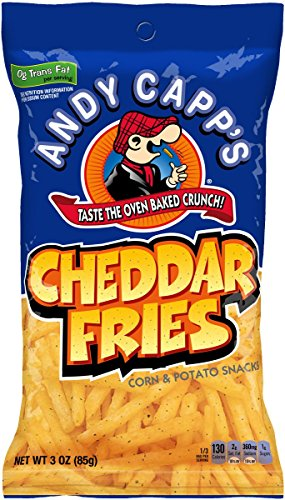 Cheddar French (Andy Capp's Cheddar Fries, 3-Ounce Bags (Pack of 12))