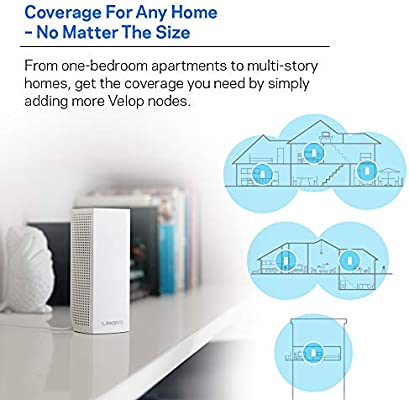 Linksys Velop Whole Home Wi-Fi Mesh System, Pack of 3