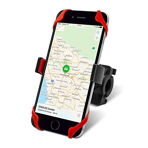UPC 642610819186, Bike Handlebar Phone Mount, Suitable Bike Cellphone Holder Cradle for iPhone 7 / 7 Plus, Samsung Bike Handlebar Clamp Slide-Proof Clamp