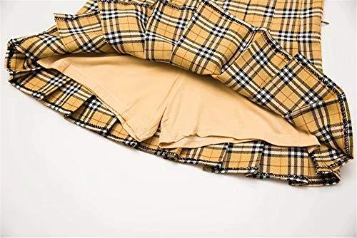 Basique yellow Jupe Jupe Rtro LLS Femmes Jupe Midi Courte x8qwx0R7S