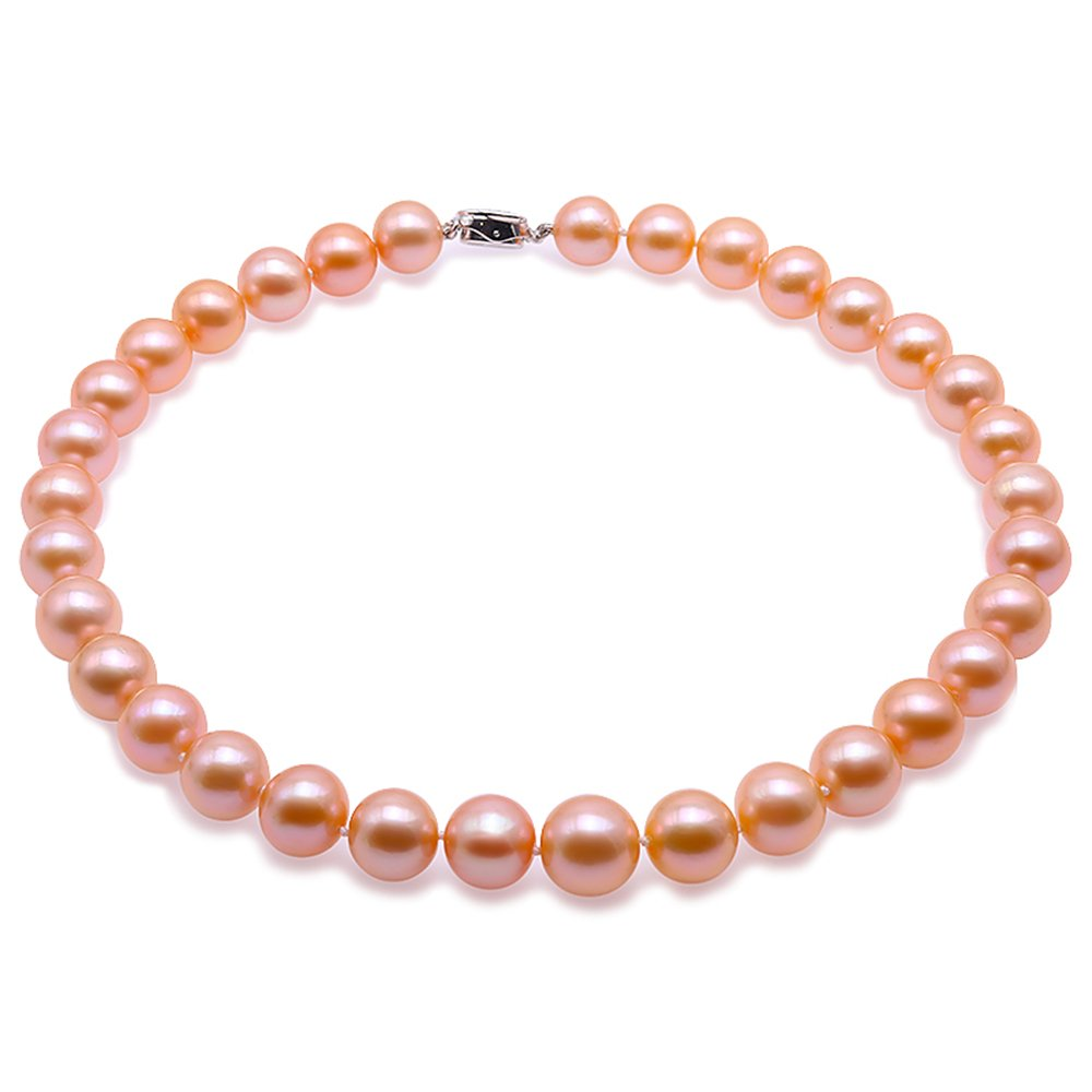 JYX Top-grade AAAAA 11-13mm Pink Freshwater Pearl Necklace 19''