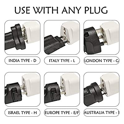 Ceptics Adapter Plug Set for World Wide International Travel Use - Grounded Safe - Works with Cell Phones, Chargers, Batteries, Camera, and More: Home Audio & Theater