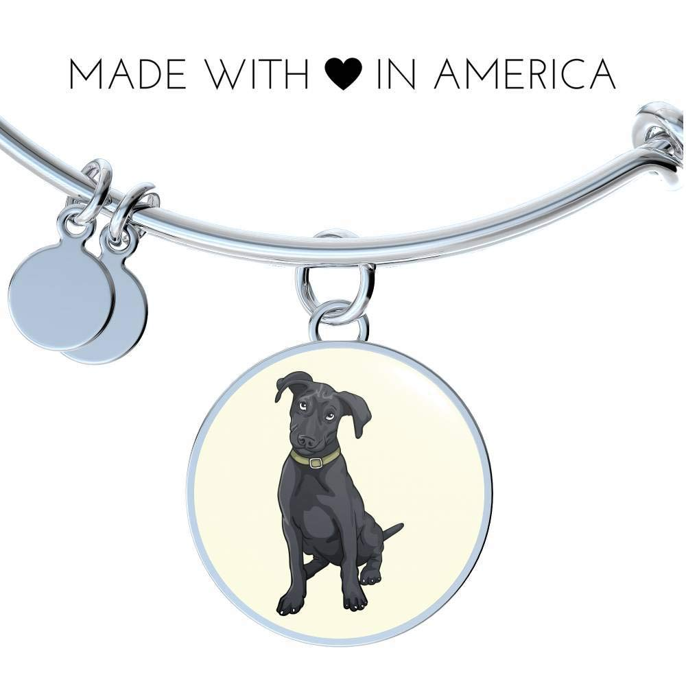 Funny Gift for Cute Dog Lovers Weezag Black Labrador Pendant Necklace Bangle
