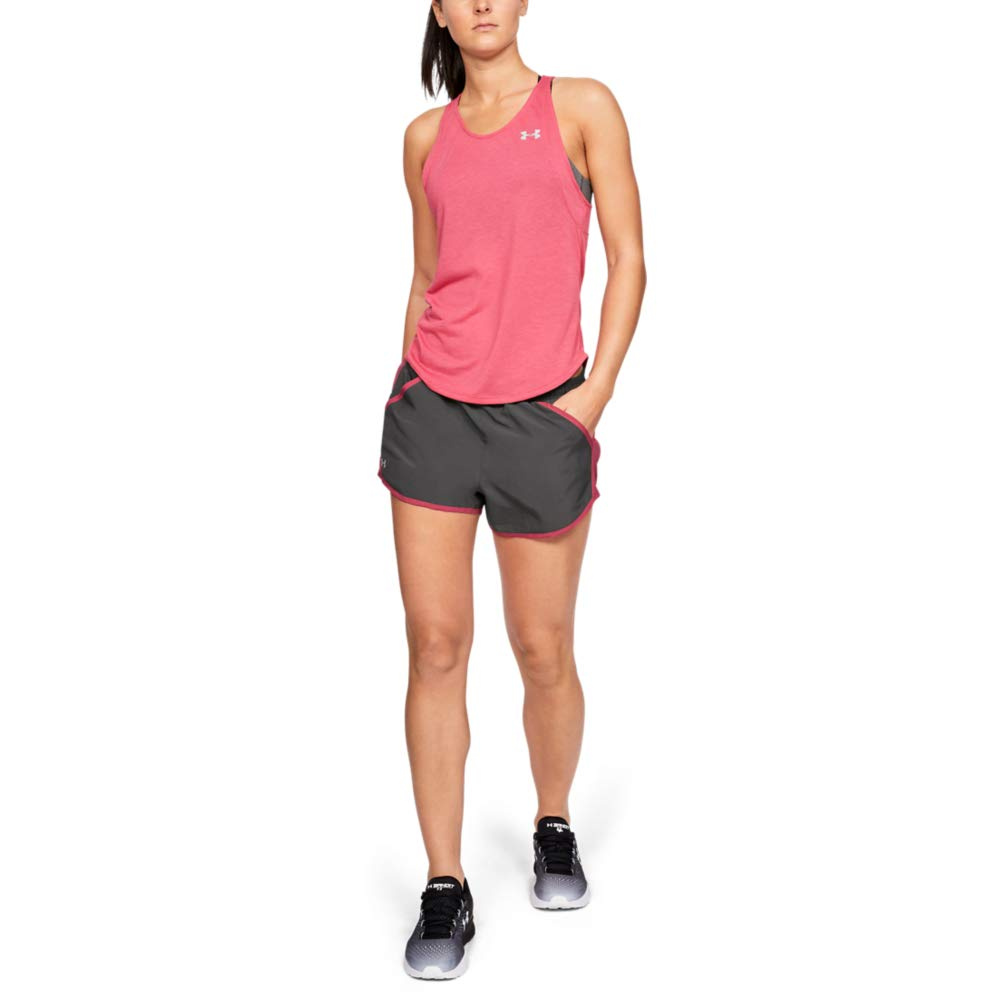 Under Armour womens Fly By Running Shorts, Grey (045)/Reflective, Medium by Under Armour