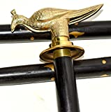 Hello Nauticals Store Vintage Collectible Brass Peacock Designer Handle Walking Cane Gift.ZMAFR23