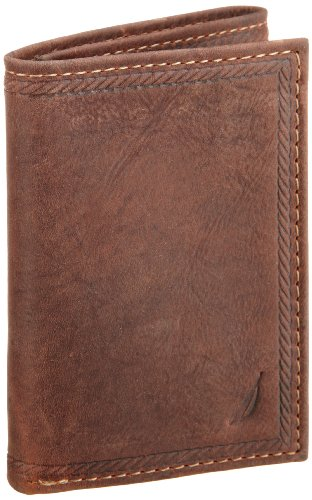 Nautica Men's Gunwale Trifold Wallet - Fold Mens Three Wallet