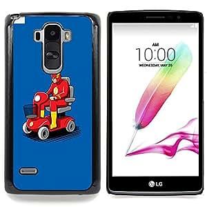 For LG G4 Stylus H631 MS631 H635 H540 H630D H542 , Transporte Flying Car Roja - Diseño Patrón Teléfono Caso Cubierta Case Bumper Duro Protección Case Cover Funda