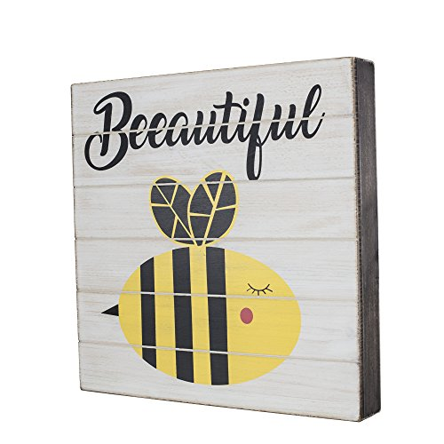 SummerHawk Ranch Wood Sign - Beeautiful, Rustic Wall Décor, 12