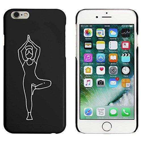 Noir 'Arbre Pose de Yoga' étui / housse pour iPhone 6 & 6s (MC00029137)