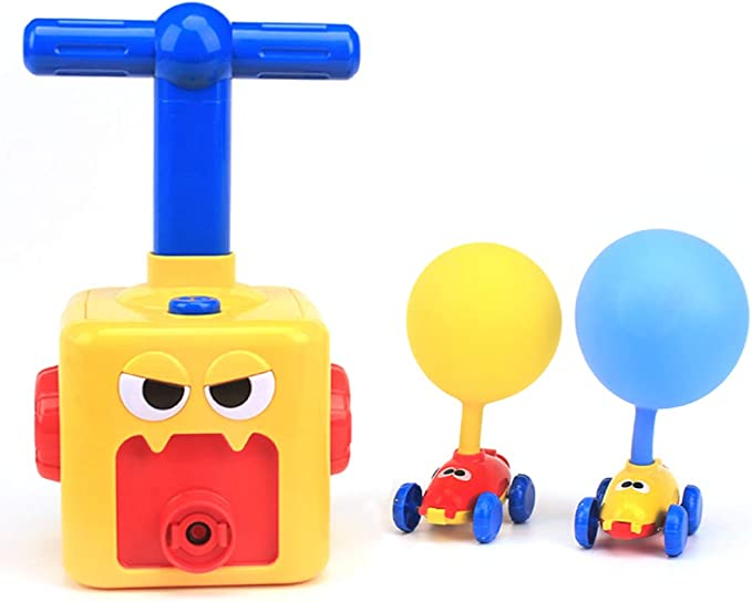 Amazon.com: LiKee Balloon Powered Cars Balloon Racers Aerodynamic Cars Stem Toys Party Supplies Preschool Educational Science Toys with Manual Balloon Pump for Kids Boys Girls 3+ and Classroom: Toys & Games