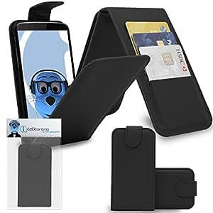 iTALKonline LG K7PU piel exekutiv Multi Function Vertical Flip carpetas Buzón protectora veranstalter Flip con la Credit/Business Card titular, compatible con LG K7