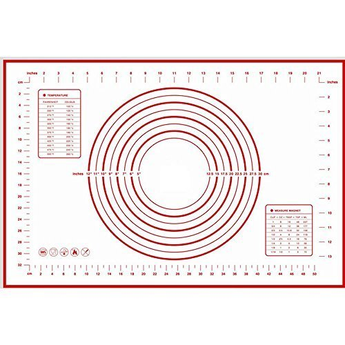 Pastry Mat - HUELE Silicone Pastry Mat With Measurements,X-Large 23.6''x15.7''