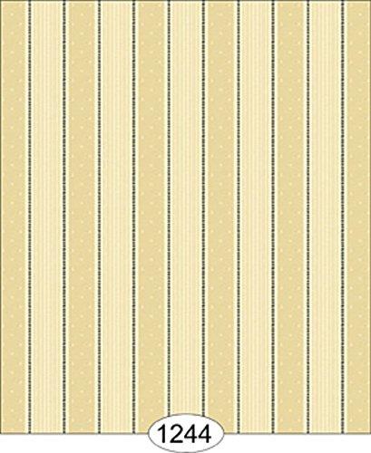 Dollhouse Wallpaper Bella Stripe - Black on - Bella Stripes Wallpaper
