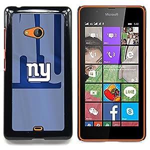 - NY Sports Team - - Cubierta del caso de impacto con el patr??n Art Designs FOR Microsoft Nokia Lumia 540 N540 Queen Pattern