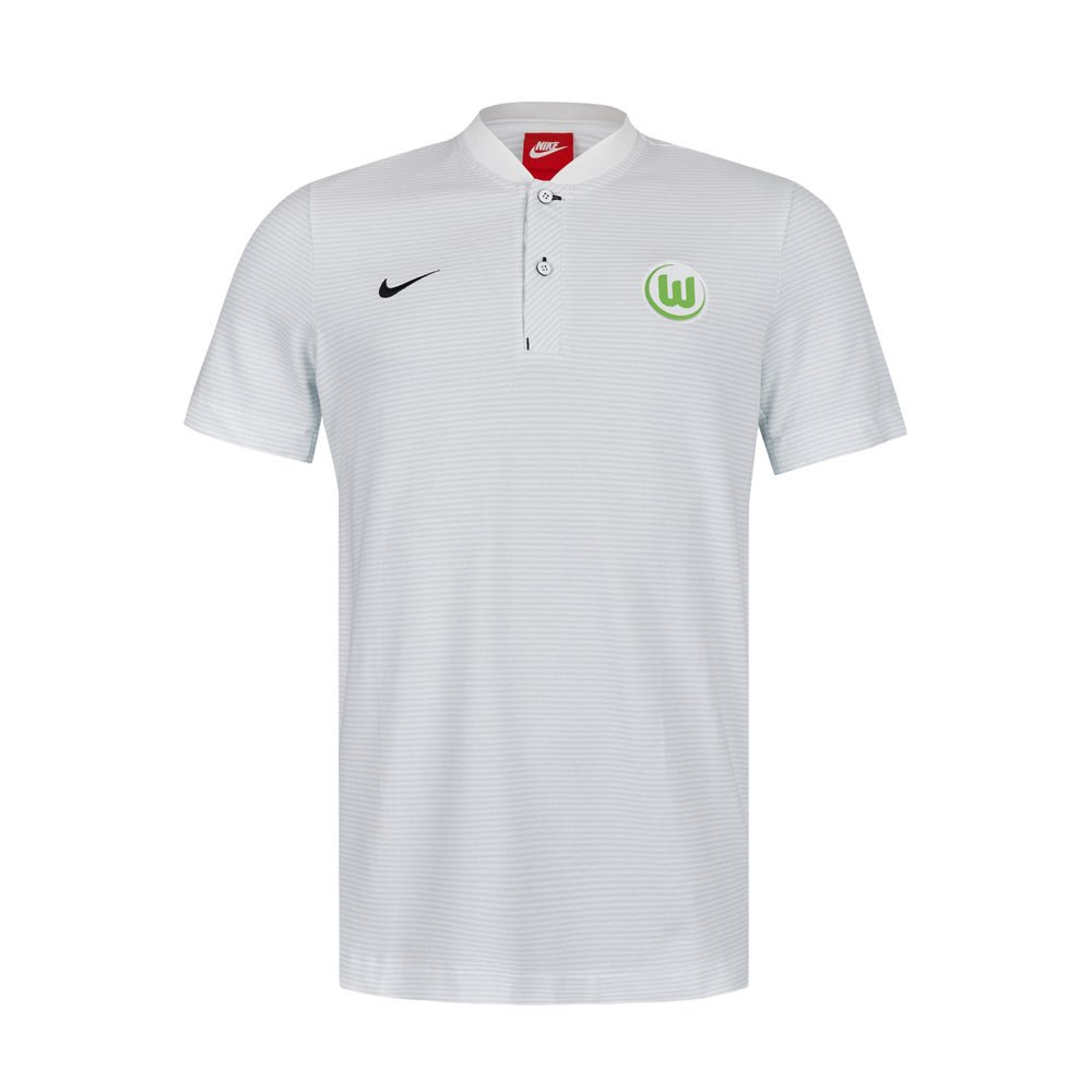 Nike 2017-2018 VFL Wolfsburg Authentic Polo Football Soccer T-Shirt Jersey Grey