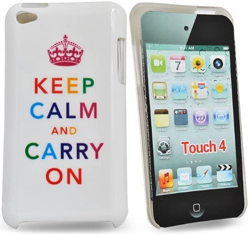 Accessory Master E80 Housse pour Apple iPod Touch 4 Blanc Keep calm and carry on