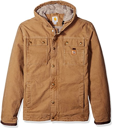 Cord Sherpa Jacket - Carhartt Men's Big & Tall Bartlett Jacket, Frontier Brown, Large/Tall