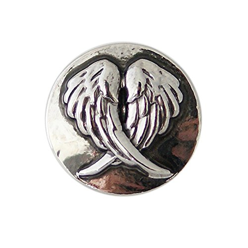 (Angel Wing Metal Interchangeable 18-20mm Standard Snap Jewelry My Prime Gifts)