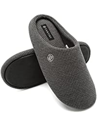 Fantiny Men's Memory Foam Slippers Slip-on Clog Scuff House Shoes Indoor & Outdoor