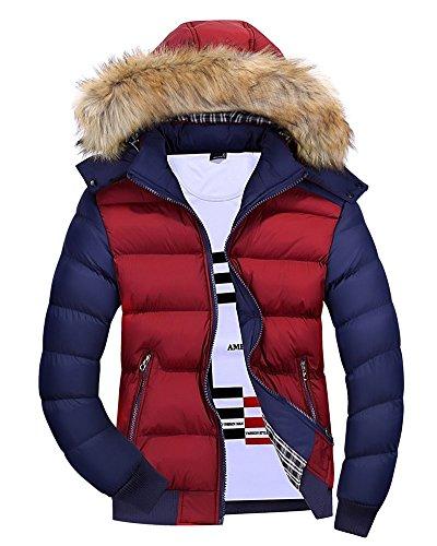 Cappotto Caldo Giaccone Con Slim Fit Giacconi Bodeaux Giacche Cappuccio Invernali Uomo qABU7R