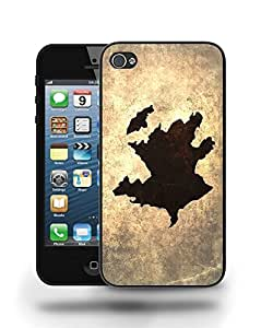 Azerbaijan National Vintage Country Landscape Atlas Map Phone Case Cover Designs for iPhone 5
