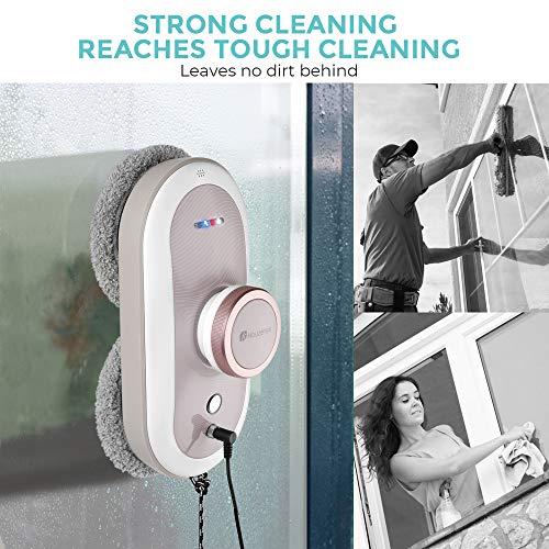 Robot de limpiaventanas/limpiacrstales, Houzetek Automático Robot Aspirador de Mando a Distancia, 3 Programas de Limpieza, 2.5kpa ¡Fuerte succión, Protección Contra...