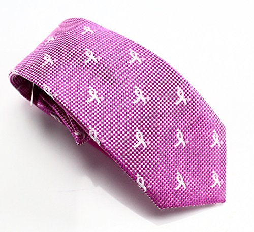 Natte Logo Repeat Striped Tie, Pink, One Size