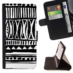 For Apple iPhone SE / iPhone 5 / iPhone 5S Case , Modelo blanco nativo Inca Indio- la tarjeta de Crédito Slots PU Funda de cuero Monedero caso cubierta de piel