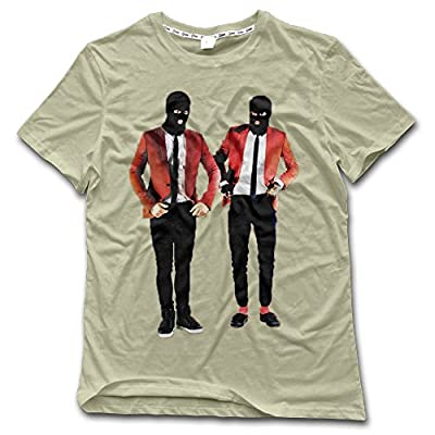 NDZZZ Men Digital Printing Stylish Twenty-One-Pilots Cotton Shirt For Training Large Natural