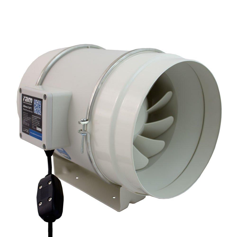 RAM 08-355-362 Belüftungsgeräte Mixed-Flow Inline Lüfter, 125 m,225 m³/h, grau