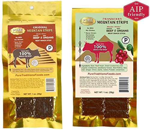 Mountain Strips Original & Cranberry AIP Sampler Pack