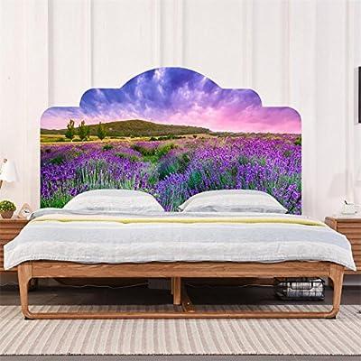 3D romantico fiori di ciliegio viola lavanda adesivi testiera camera ...