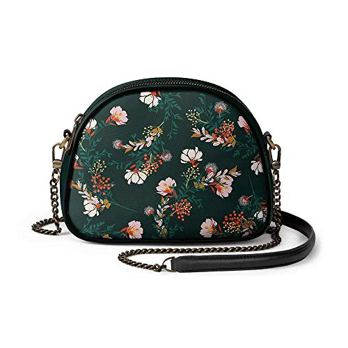 DailyObjects Lush Midnight Arch Sling Crossbody Bag for girls and women | Vegan leather, Stylish, Sturdy, Zip closure…