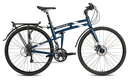 New 2017 Montague Navigator Folding 700c Pavement Hybrid Bike Midnight Blue 17″