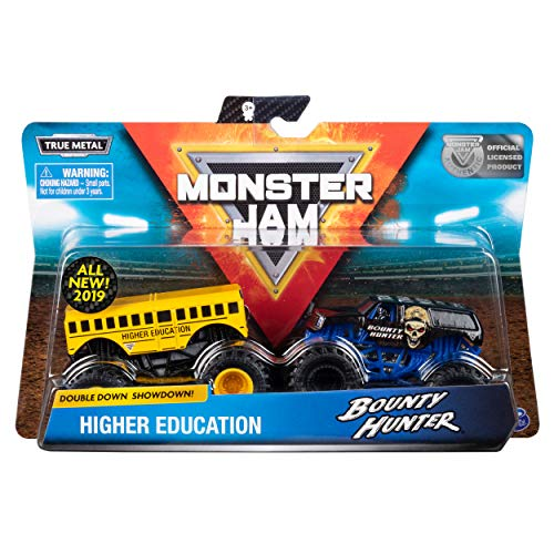 Monster Jam Official Higher Education vs. Bounty Hunter Die-Cast Monster Trucks, 2 Pack ()