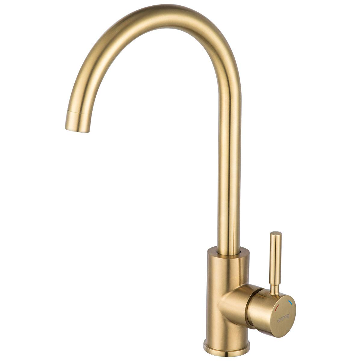 Bar Kitchen Sink Faucet Brushed Gold GAPPO Lead Free Single Handle Bathroom Faucet Prep Kitchen Faucet in Stainless by GAPPO