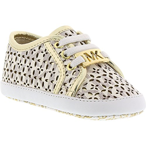 Michael Kors Girl's Baby Borium Perforated Sneakers Vanilla - Michael Kors Infant