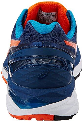 Asics Men's Gel-Kayano 23 Poseidon, Flame Orange and Blue Jewel Running Shoes - 10 UK/India (45 EU)(11 US) (T646N.5809)
