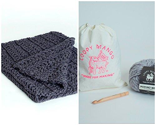 Loopy Mango DIY Kit - Crochet Baby Blanket (Key Lime) by Loopy Mango