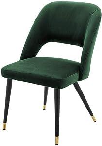 Mid-Century Modern Green Velvet Dining Chair | Eichholtz Cipria | Luxury Kitchen & Dining Room Furniture