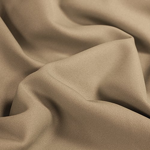 Khaki Solid 60'' Poly Gabardine Fabric by the Yard for sale  Delivered anywhere in USA