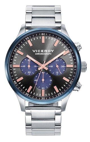Viceroy Reloj Multiesfera para Hombre de Cuarzo con Correa en Acero Inoxidable 471055-57: Amazon.es: Relojes