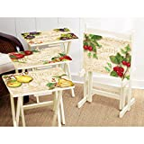 Cape Craftsmen Elegant Farmhouse TV Trays with