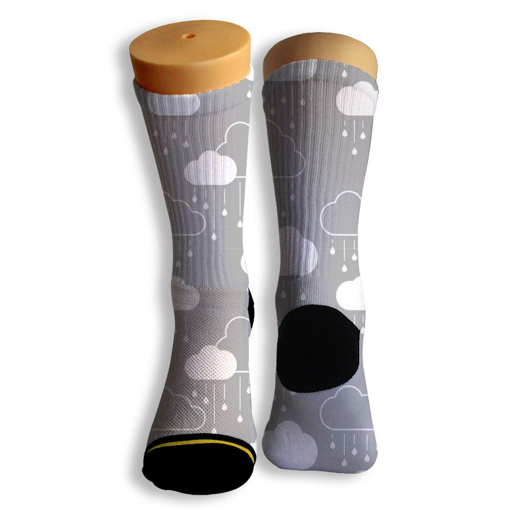 Basketball Soccer Baseball Socks by Potooy Romantic Rain 3D Print Cushion Athletic Crew Socks for Men Women