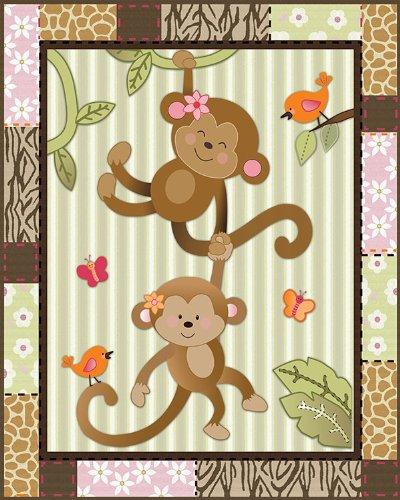 Pink Monkey Print - 7