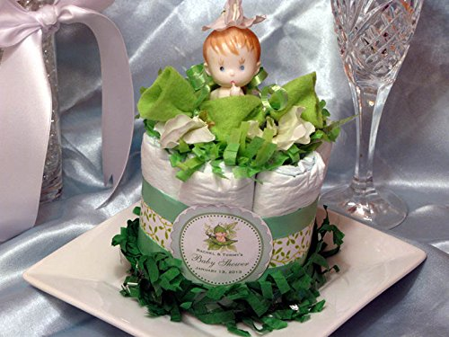 Cakes Sweet Baby (SWEET PEA IN A POD Neutral Baby Shower Mini Diaper Cakes Centerpieces)