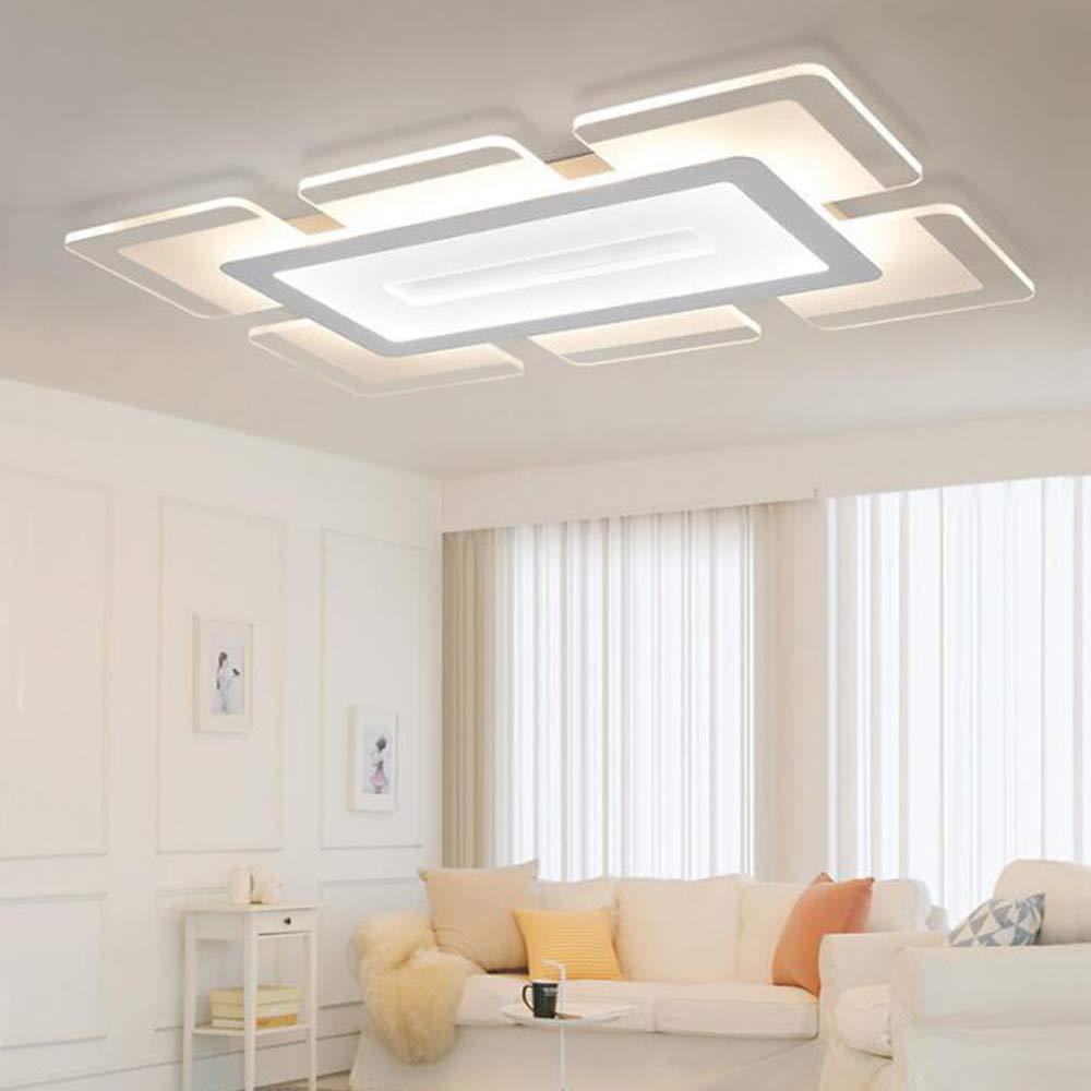 LITFAD Rectangular LED Flush Light Minimalist Acrylic Ultrathin Ceiling Lamp 35.5'' Length, Modern Pandent Light for Dinning Room Bedroom Living Room, White Light by LITFAD